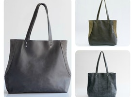 30% OFF Miri Leather Bag ====>ONLY $169<=== Grey \ Khaki \ Distressed Blue