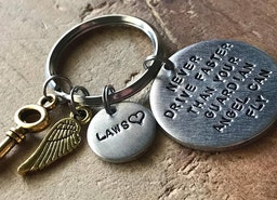 Personalized traveler keychain