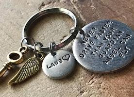 Personalized traveler keychain