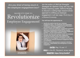 Free cutting-edge Employee Engagement Workshop (May15 - Washington DC; May 17 PA/NJ)
