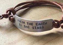 Personalized leather adjustable bracelet