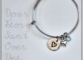 Expandable Semicolon Hand Stamped Bracelet