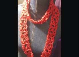 Red Blocks Scarf