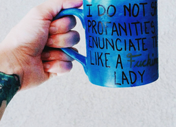 I do not spew profanities I enunciate them like a FUCKING lady hand glazed mug custom made just for you