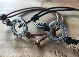 coordinates washer adjustable bracelets