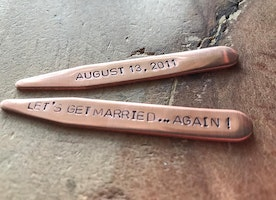 Copper anniversary collar stays
