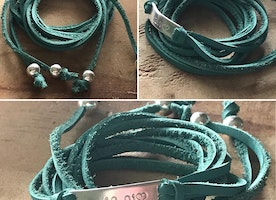 personalized wrap bracelet