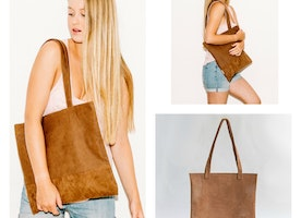 Vegan Leather // Laser Tote Bag // Available in 5 colors