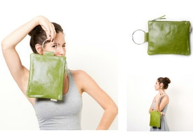 Wristlet Clutch in amazing Olive Green // on SALE! 50% OFF for April *or until stocks last.  Use coupon: APRIL