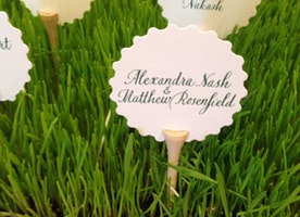 Golf tee Escort Cards and Holders #2 /Place Card Holders - Favors