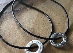 coordinates washer necklace set