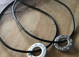 coordinates washer necklace set