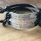 Custom adjustable leather cord bracelets