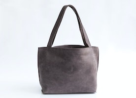 "Customer Feedback \ Michelle \\ Shiri Bag in Purple Gray Leather ""I LOVE LOVE LOVE my bag!! It's a great size and lightweight so it doesn't weigh a lot once you add all your stuff. It came very quickly. I love it!"""