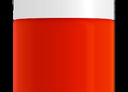 Orange Red Nail Polish, non-toxic, water based by SeaMilk