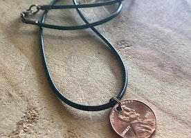 Custom penny necklace