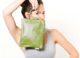 LAST 10 days for our CrAzY 50% off SALE for our...  Seriously sexy // Olive Green Leather Wristlet Clutch