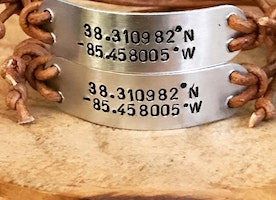 Custom coordinates adjustable bracelets