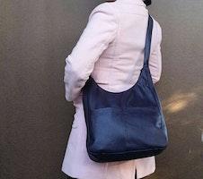 Purple leather cross body bag - shoulder purse - women casual bag - original bag - coco