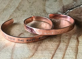 Custom music quote cuffs