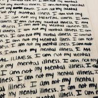 Medium Charcoal Painting Words Canvas Mental Health | Bad Art and Meow #MentalHealthAwareness