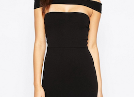 "Guided by This ""Missguided Cut Out Panel Bardot Midi Dress"""