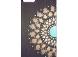 Elegant Gold Lotus Flower Wood Stylish Floral iPhone 5 Case