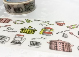 Kitchen planner sticker tape, 3M kitchen ware washi tape, cooking planner tape, food party invitations cooking diary scrapbook mother gift