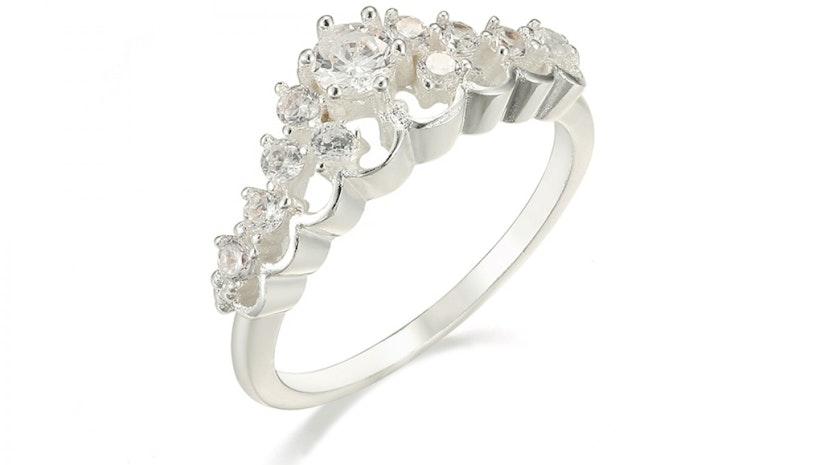 Silver Princess Crown Ring