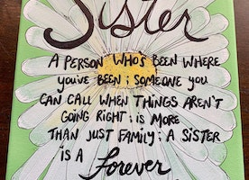 Made to order Sister quote canvas
