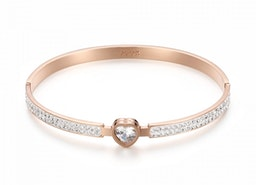 Heart Diamante Bangle