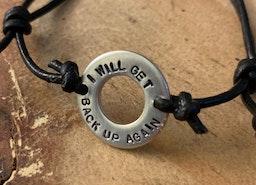 Inspirational washer bracelets