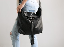 New from our Basic collection \ \Black Hobo Bag \\ Can be worn on the shoulder or crossbody.
