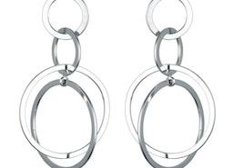Interlinking Hoops Drop Earrings