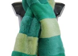Dolce & Gabbana Green Mink Fur Scarf