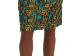 Dolce & Gabbana Multicolor Jacquard Straight Pencil Skirt