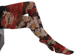 DOLCE & GABBANA MULTICOLOR DAISY FLORAL PRINT STOCKINGS TIGHTS L/M/S
