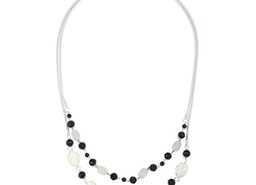 Crystal and Beads Petal Necklace