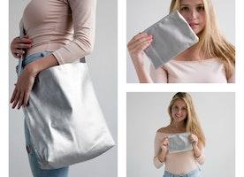 NEW Metallic by Mayko Basics  >>Tote + Matching Pouch