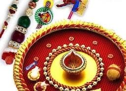 Best Bandhani Designer Rakhi Thali