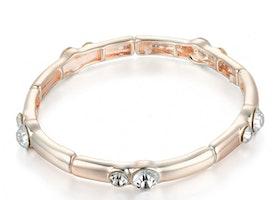 Round Stretch Bracelet with Crystal Stone