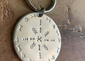 Custom Mandala keychain/purse charm