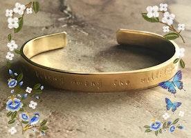 Custom brass, copper or silver cuff