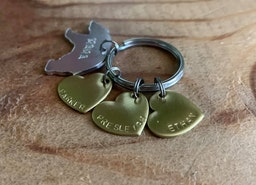 Mama bear keychain with kids names