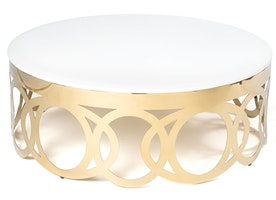 """O"" Coffee Table Gold"