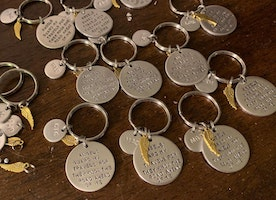 Personalized new driver keychains