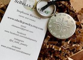 Personalized Mandala Keychain/purse charm