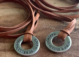 Personalized washer necklace