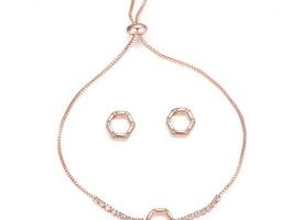 Hexagon Slider Bracelet