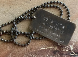 Custom coordinates dog tag necklace